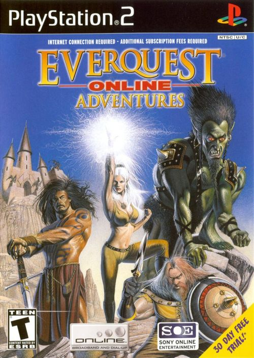 Cover for EverQuest Online Adventures.