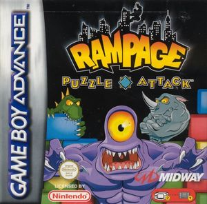 Cover for Rampage Puzzle Attack.