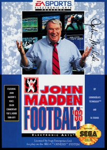 Cover for John Madden Football '93.