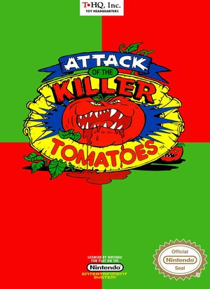 Cover for Attack of the Killer Tomatoes.