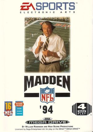 Cover for Madden NFL '94.