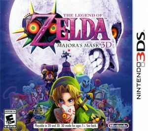 Cover for The Legend of Zelda: Majora's Mask 3D.