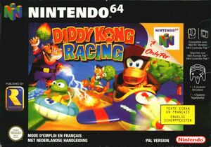 Cover for Diddy Kong Racing.