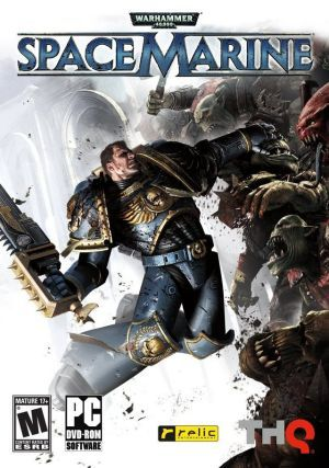 Cover for Warhammer 40,000: Space Marine.
