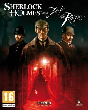 Cover for Sherlock Holmes Versus Jack the Ripper.