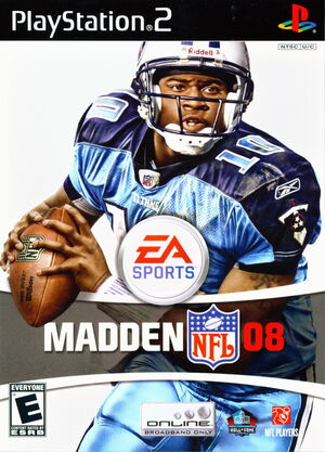 Cover for Madden NFL 08.