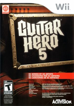Cover for Guitar Hero 5.