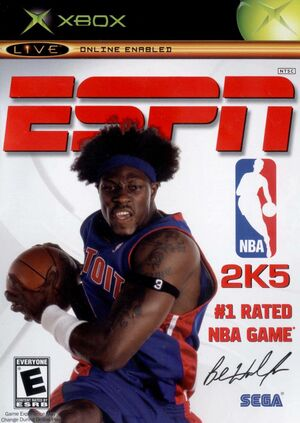 Cover for NBA 2K5.