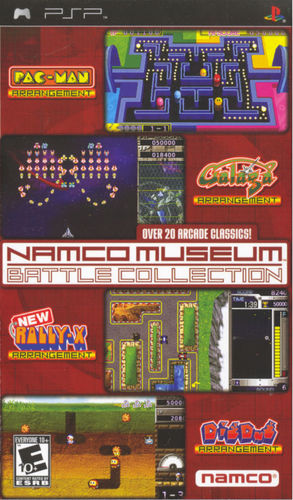 Cover for Namco Museum Battle Collection.