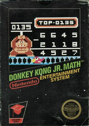 Cover for Donkey Kong Jr. Math.