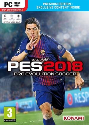 Cover for Pro Evolution Soccer 2018.