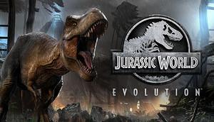 Cover for Jurassic World Evolution.