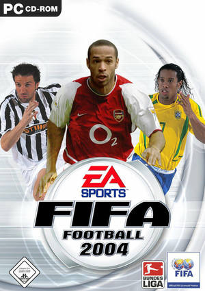Cover for FIFA Football 2004.