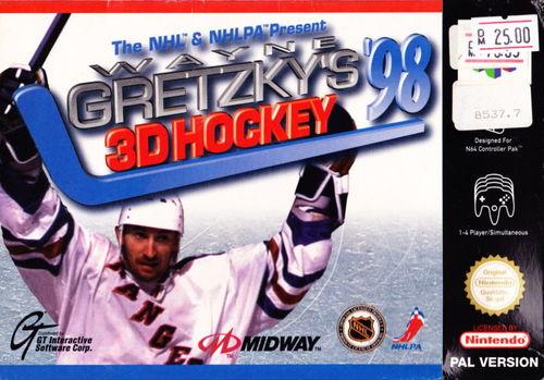 Cover for Wayne Gretzky's 3D Hockey '98.