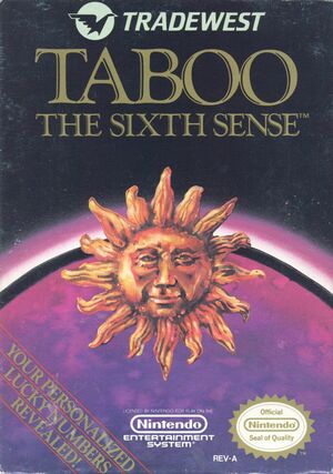 Cover for Taboo: The Sixth Sense.