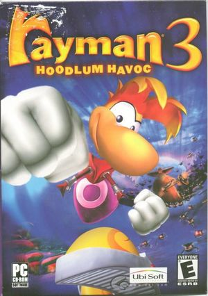 Cover for Rayman 3: Hoodlum Havoc.