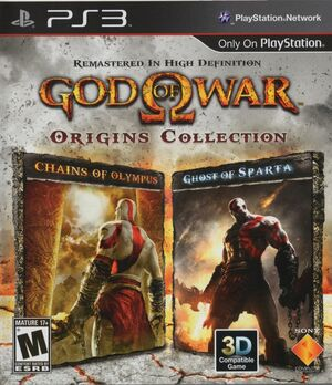 Cover for God of War: Origins Collection.