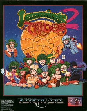 Cover for Lemmings 2: The Tribes.