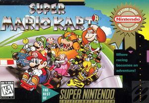 Cover for Super Mario Kart.