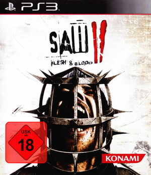 Cover for Saw II: Flesh & Blood.