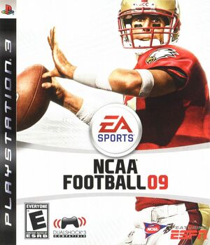 Cover for NCAA Football 09.