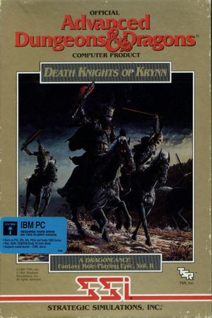 Cover for Death Knights of Krynn.