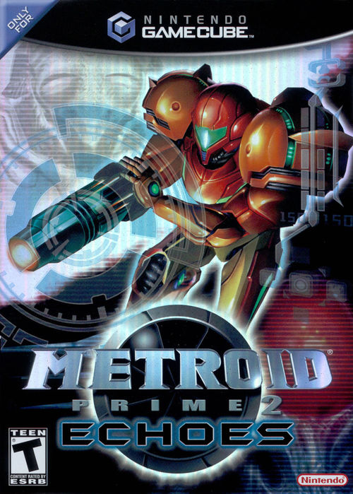 Cover for Metroid Prime 2: Echoes.