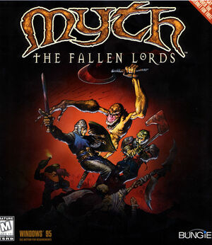Cover for Myth: The Fallen Lords.