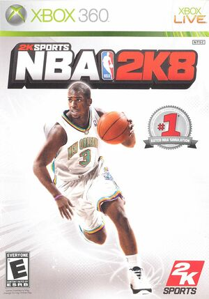 Cover for NBA 2K8.
