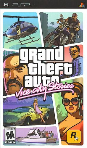 Cover for Grand Theft Auto: Vice City Stories.