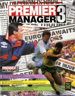 Cover for Premier Manager 3.