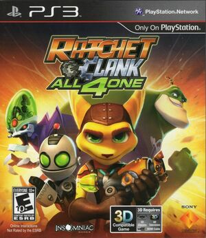Cover for Ratchet & Clank: All 4 One.