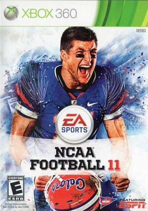 Cover for NCAA Football 11.