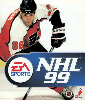 Cover for NHL 99.