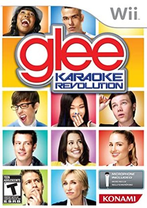 Cover for Karaoke Revolution Glee.