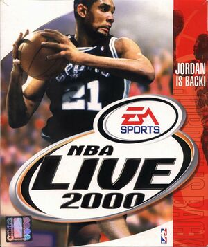 Cover for NBA Live 2000.