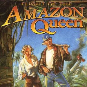 Cover for Flight of the Amazon Queen.