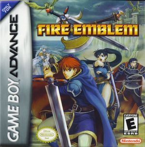 Cover for Fire Emblem: The Blazing Blade.
