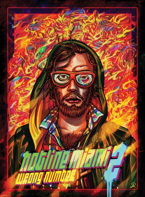 Cover for Hotline Miami 2: Wrong Number.
