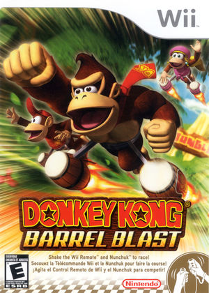 Cover for Donkey Kong Barrel Blast.