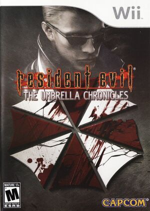Cover for Resident Evil: The Umbrella Chronicles.