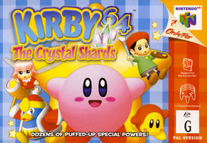 Cover for Kirby 64: The Crystal Shards.