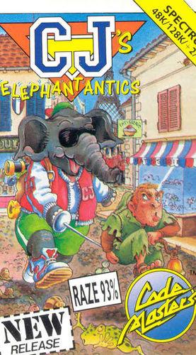 Cover for CJ's Elephant Antics.