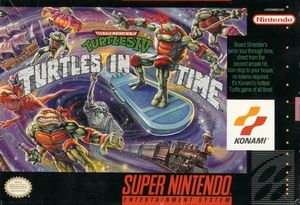 Cover for Teenage Mutant Ninja Turtles: Turtles in Time.
