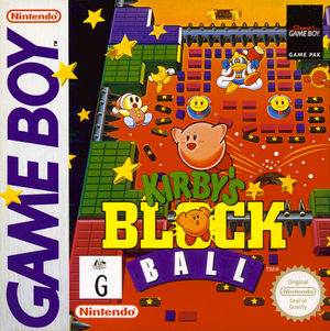Cover for Kirby's Block Ball.