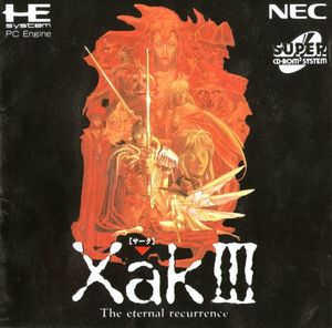 Cover for Xak III: The Eternal Recurrence.