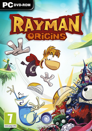 Cover for Rayman Origins.