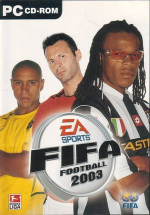 Cover for FIFA Football 2003.