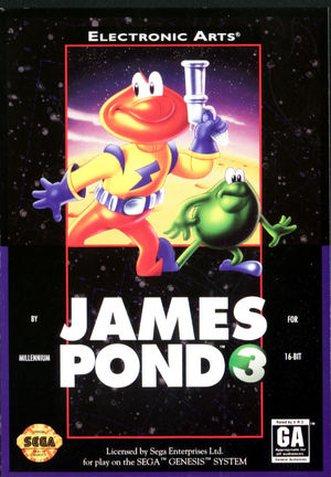 Cover for James Pond 3: Operation Starfish.