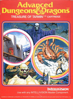 Cover for Advanced Dungeons & Dragons: Treasure of Tarmin.